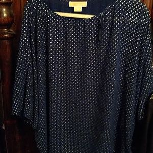 Michael Kors blouse suze 2xsilver crystal like on